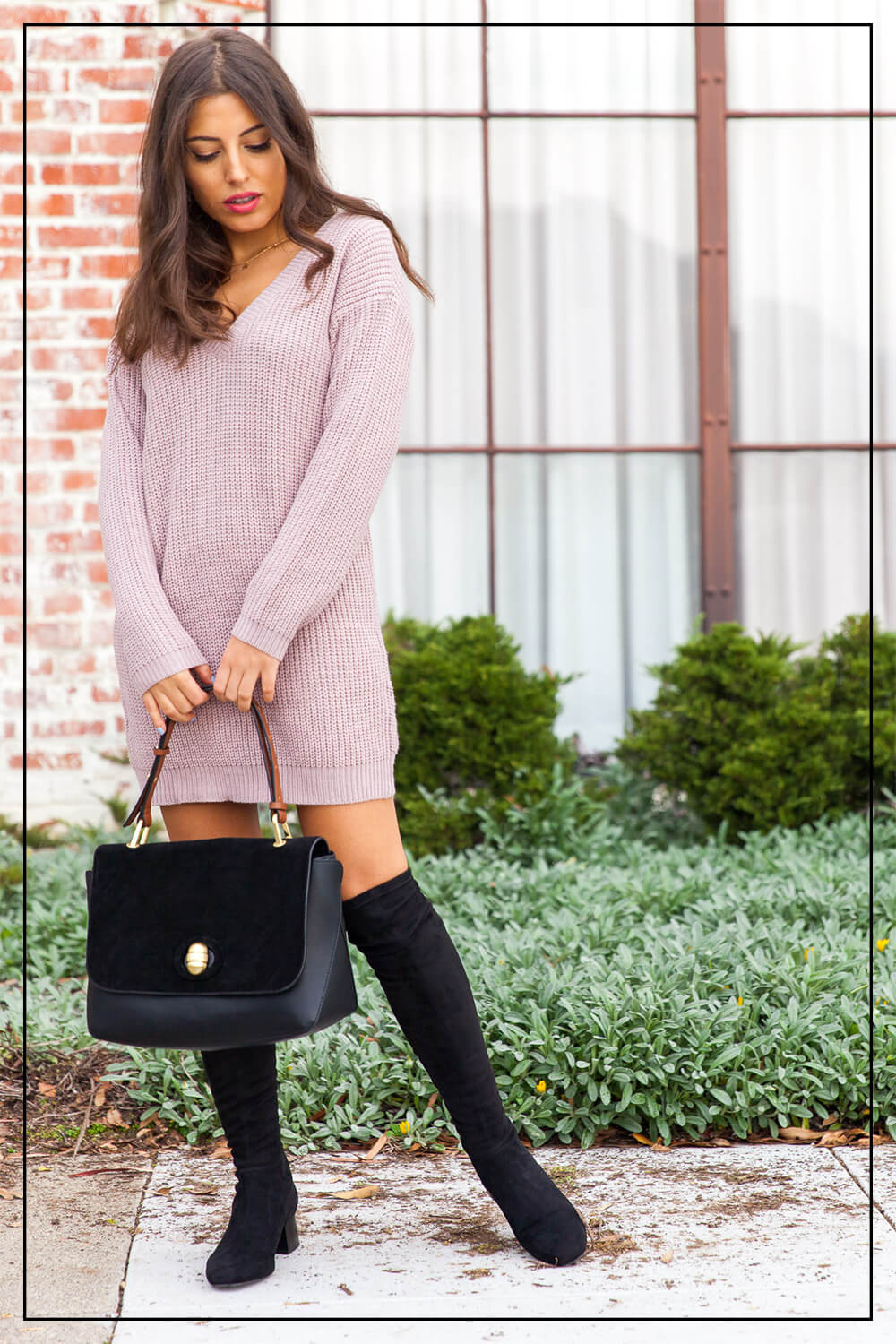 Love Of Mode Sweater Dress